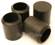 Black Rubber 25mm 'A' Type Ferrules Pack of 4