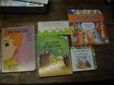 lot de 5 livres en carton pour les petits enfants