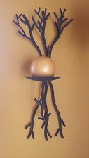 A Pair Of Metal Tree Branch Candle Holder Wall  Sconces