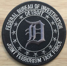 FBI Detroit Field Office JTTF - Joint Terrorism TF BG Genuine *Kokopelli Patch*