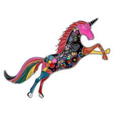 For Women Kid Scarf Jewelry Gift Enamel Alloy Crystal Fashion Unicorn Brooch Pin