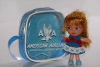 AA American Airlines Souvenir Purse & Kiddle Clone Doll RARE