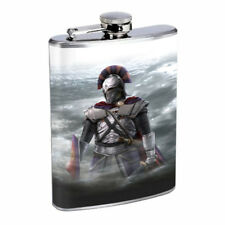 Medieval Knight D9 Flask 8oz Stainless Steel Hip Drinking Whiskey