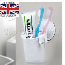 Plastic Suction Cup Toothpaste Toothbrush Holder With Razor Holder Bathroom