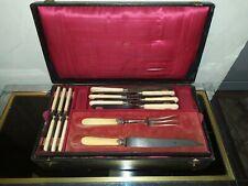 Coffret ménagère Napoléon III 2 x 6 couteaux MF Acier Fondu Médaille *