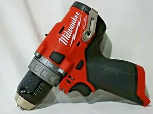 MILWAUKEE M12 12V Lithium Ion Brushless 1/2 in. Hammer Drill 2504-20 BARE TOOL