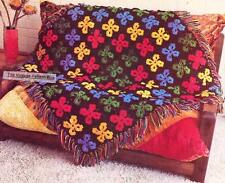 EASY MOTIF RUG / 12ply or chunky - COPY Afghan crochet pattern