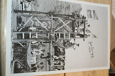 Vintage Surfing Joe Quigg AUTOGRAPHED Surf PHOTOGRAPHY 1953, 12x18in. POSTER