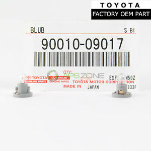 GENUINE TOYOTA 4RUNNER 03-09 COOLER CONTROL SWITCH BULB SET OF 2 OEM 90010-09017
