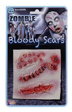 Fake Gory Wounds  Bloody Stick MakeUp Scars Halloween Stiches Zombie Fancy Dress
