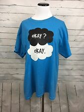 TFOS The fault in our stars OKAY shirt Unisex large blue short sleeve