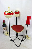 Retro Vintage side smoking table 1960 mid century ashtray cigarettes holder