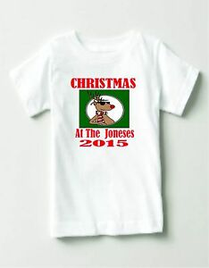 Personalise christmas t/shirts with your name