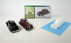"New! SMC-807 1938 Cadillac ""60"" 4 Door Sedan  HO-1/87th Scale White Resin Kit"