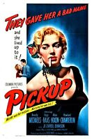 """Movie Poster Pickup 1951 One Sheet 27""""x41""""  Hugo Haas Beverly Michaels -REPRO"""