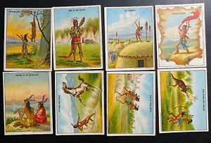 8 Hassan Oriental Smoke Cigarettes Cards USA Collection Lot