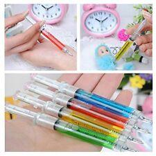 4Pcs Gift Injection Nurse Ballpoint Pen Injection Liquid Writing Syringe Ballpen