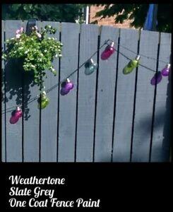 10 LITRE WEATHERTONE 1 COAT  SLATE GREY SHED & FENCE PAINT