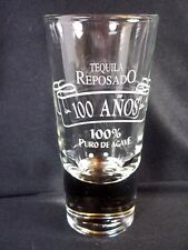 "Tequila Reposado heavy base DOUBLE SHOT glass shooter 5.5"" tall 4 oz"