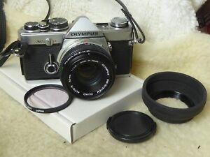 Olympus OM-2N 35mm SLR Camera with 50mm F1.8 Lens. om2n + filter + cap