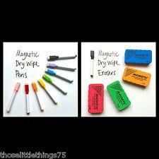 8 set di colori magnetico lavagna metallica bianca evidenziatori & 1 magnetico