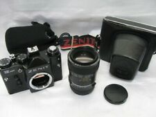 New ListingSoviet Zenit 12Xp 35mm M42 Slr Camera Body w/Revuenon (Enna) 135/2.8 Lens Cases