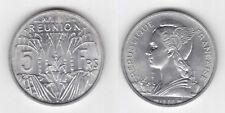 REUNION – RARE 5 FRANCS UNC COIN 1955 YEAR KM#9