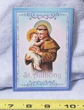 Vintage Religiös Medaillon Anhänger St.Anthony Mv