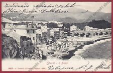 GENOVA CITTÀ 761 STURLA - BAGNI SPIAGGIA Cartolina viaggiata 1905
