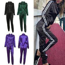 Women Casual Tracksuit Hoodies Zip Sweatshirt + Pants Sport Wear Suits 2Pcs Sets