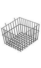 Mini Wire Grid Basket for Slat or Pegboard in Black 12 L x 12 W x 8 D Inch
