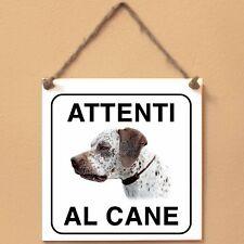 Bracco del Bourbonnais 1 Attenti al cane Targa piastrella cartello ceramic tile