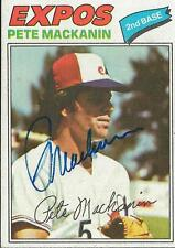 Pete Mackanin 1977 Topps Autograph #156 Expos