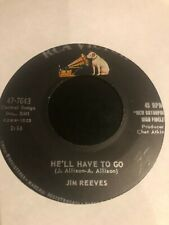 """JIM REEVES 45rpm VINYL """"He'll have to go"""" & """"In a mansion stands..."""" RCA VICTOR"""