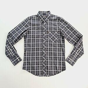 BEN SHERMAN Mens Plaid Long Sleeve Casual Dress Shirt Size Extra Small
