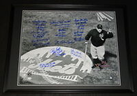 1962 1st New York Mets Team Signed Framed 16x20 Photo JSA LOA