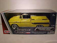 1958 Chevy Apache Fleetside Truck Die-cast 1:24 by Motormax 8 inch Yellow