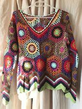 Pièce unique, pull au crochet Vintage.