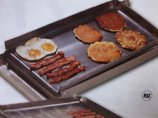 "Make-A-Griddle 12"" Commercial Steel Griddle/Grill Plate (2 Burner, Stovetop)"