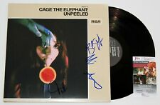 CAGE THE ELEPHANT BAND SIGNED UNPEELED 2x LP VINYL RECORD ALBUM MATT +JSA COA