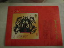 2020 Jersey Post Miniature Sheet on Year of the (Metal) Rat - MNH
