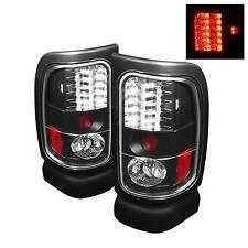 94-02 DODGE RAM 2500/3500 SPYDER BLACK LED TAIL LIGHTS.