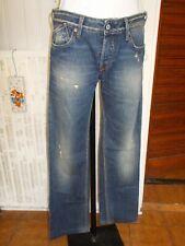Pantalon jean bleu délavé usé JAPAN RAGS 811 LOGAN w27 36/38 taille basse 18AS5