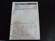Schaltbild  Service Informationen Telefunken  Tonband RC 100