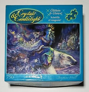 "NIB Crystals & Candlelight Glitters and Glows ""Polar Princess"" Puzzle 750 Piece"
