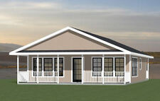 28x36 House -- 2 Bedroom 2 Bath -- PDF Floor Plan -- 1,008 sq ft -- Model 1C