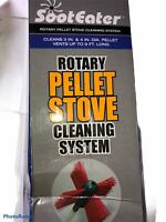 "Soot Eater Potary Pellet Stove Cleaning System Gardus Inc. 3"" Brush ONLY"