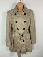 WOMENS NEW LOOK TALL SIZE UK 14 BEIGE SMART/CASUAL TRENCH COAT RAIN MAC JACKET