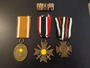 Lote de 3 medallas alemanas de la 1a y 2a guerra mundial