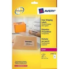 Avery Clear Laser Label 99.1x67.7mm 8 per Sheet (Pack of 25) L7565-25